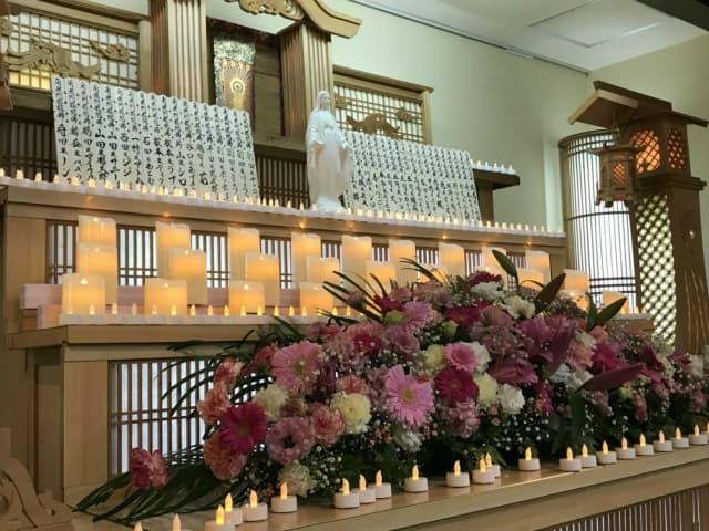もみじ会館での第2回華の追悼会の様子1