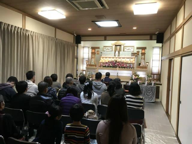 もみじ会館での第2回華の追悼会の様子3